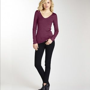 Michael Stars Shine Long Sleeve Top in Berry